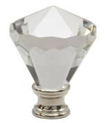 Urbanest Crystal Belle Lamp Finial, Satin Nickel, 5.6cm Tall