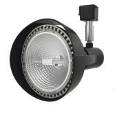 Lithonia Lighting LTH3000 PAR38 DBL M12 1-Light Front Loading Commercial Track Head, 1-2 Circuit, Steel, PAR38-Compatible Led, Black