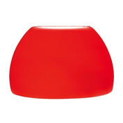 Jesco Lighting QASA101RD Dome Glass Shade For Quick Adapt Spot Light, Solid Red Finish