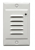 NICOR Lighting STP-10-120-WH-PC LED Step Light with Built-In Photocell with Vertical Faceplate