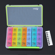 7-Day Pill Organiser 4 Times Per Day Travel Pill Organiser Prescription and Medication Pill Box Case with Moisture-Proof Case