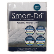 Living Textiles Smart-dri Waterproof Mattress Protector - Bassinet, White