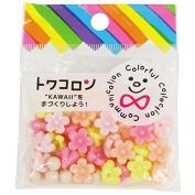 Towa colon petit flower pastel worm 40 pieces entered / rubber 1 m