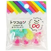Towa colon magical heart neon pink 16 pieces entering / rubber 1 m