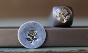 Brand New 6mm Rose Flower Metal Punch Design Stamp - Supply Guy - CH-173
