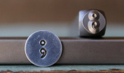 Brand New 6mm Semicolon Metal Punch Design Stamp - Supply Guy - CH-171