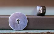 Brand New 3mm Mini Cross Metal Punch Design Stamp - Supply Guy - CH-154