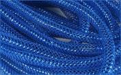 Deco Mesh Flex Tubing with Metallic Foil (Royal Blue) 8mm x 30 Yards : RE300459