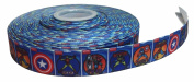 Super Heroes Characters 2.5cm Wide Repeat Ribbon Sold in Yard Lots