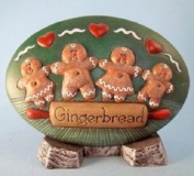 Dona's Gingerbread Seasons Insert Christmas Decor - Ready to Paint Ceramic Bisque - Hand Poured in the USA