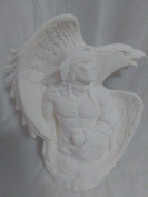 Native Warrior with Eagle 24cm Ceramic Bisque Ready To Paint