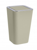 """Wenko """"Candy"""" Swing Cover Bin, Taupe"""