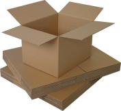 "50 x Medium Cardboard Packing S/W Boxes 8x 6"" x 10cm"