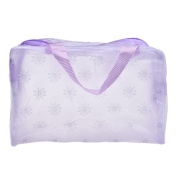FENZL Clear Transparent Travel Bag Cosmetic Carry Case Toiletry Makeup Bag