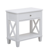 Sofaweb.com White Finish Accent End Table