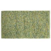 Bacova Guild 01191 Texture Wovens Rainbow Yellow Green Blue Reversible Accent Rug, 90cm x 50cm