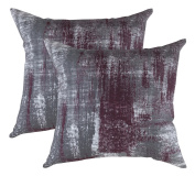 TreeWool, (Pack of 2) Brush Art Accent Throw Pillow Covers in Cotton Canvas