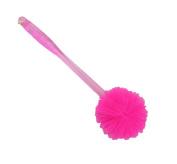 Natural Sponge Loofah Back Scrubber Brush Bath Long Reach Shower Handle,C