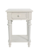 Urbanest Brooks Accent End Table, 70cm Tall, Off White