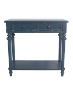 Urbanest Shelton Accent End Table, 80cm Tall, Blue