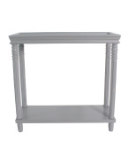 Urbanest Georgia Accent End Table, 70cm Tall, Grey