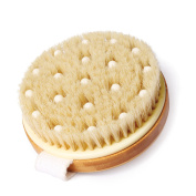 SUPRENT Dry Cellulite Body Brush for Improving Skin Health and Beauty, Natural Bristle and PPR Massage Beads Can Remove Dead Skin, Improve Lymphatic Functions, Exfoliates, Stimulate Blood Circulation