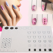 MLM Silicone Stamping Mat Foldable Washable Pad with Box Manicure Nail Art Tools
