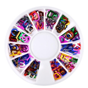 Alonea Alphabet Dazzling Tips Nail Sticker Sequins Colourful Nail Art Decoration DIY