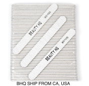 Professional Nail Files Grit 80/100, Coarse & Medium Zebra Round
