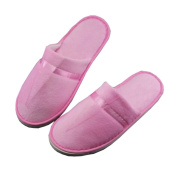 5 Pairs Hotel Disposable Slippers Disposable Spa/Salon Slippers,Pink