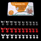 500 PCS False Nails Artificial Nail Tips 10 Sizes Acrylic Fake Nails