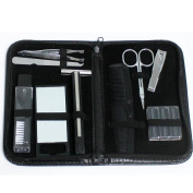 Cutting Edge Bargains Men and Women's Complete Manicure Grooming Travel Set with Storage Case