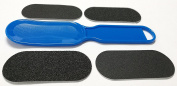 ERGONOMIC FOOT FILE WITH DISPOSABLE REFILL PADS