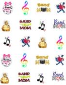 40 Music Marching Band Mom Nail Art Decal