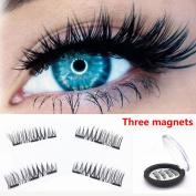 Magnetic Eyelashes, Hometom 3 Magenets Magnetic Eyelashes Ultra-thin 0.2mm Magnetic