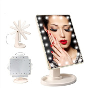 Coshine LED Touch Screen Makeup Mirrors Proffessional 22 LED light Health Beauty Adjustable 360 Rotating Countertop Mirrors