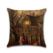 Tsmile Halloween series Square Pillow Cover Cushion Case Pillowcase Zipper Closure