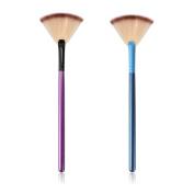 XCSOURCE 2pcs Professional Slim Fan Makeup Brush Blending Highlighter Contour Blush Face Powder Brushes Bronzer MT510
