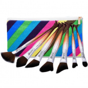 7PCS Makeup Brush Set Professional Make Up Beauty mingcf Blush Foundation Contour Powder Cosmetics Brush Makeup Bag