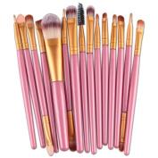 15 pcs/Set Professional Eye Brush Set, Cuekondy Eyeliner Eyeshadow Blending Brush Makeup Tools Cosmetic Brushes Kit