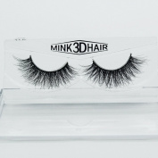100% Handmade 3D Mink Fur False Eyeleshes Natural Long Siberian Mink Fake Lashes