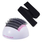 Beauty7 Large Volume Eyelash Extension Hemisphere Holder Stand Base With Hand Strip Wrap Pallet Kit Application Tool For False Lashes Eye Lash