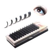 THINKSHOW 3D Eyelash Extensions Natural Black Soft Korea Silk Volume Individual Eyelashes 0.07mm C/D Curl 8-15mm 4 Trays Salon Use