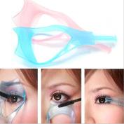 2Pcs 3 in 1 Makeup Upper Lower Lash Mascara Applicator Guide Tool Plastic Eyelash Comb