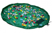Toys Storage Bag, WCIC Portable Large Kids Play Mat Rug Organiser Pouch Dia. 150cm Green