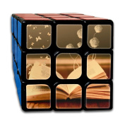 3x3x3 Puzzle Cube Books Flowers Butterfly Fantasy Ultra-smooth Brain Game Puzzle Toys Rubik's Cube For Adults Kids Anti Stress Anti-Anxiety