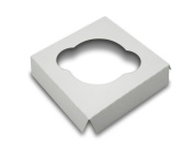 W PACKAGING WP4CI1C Cupcake Insert with 1 Cavity for Holding Regular Cupcakes in Cake Box, 10cm x 10cm , White