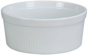 Yanco SF-164 Souffle Bowl, Fluted, 1890ml Capacity, 22cm Diameter, 7cm Height, Porcelain, Super White, Pack of 12