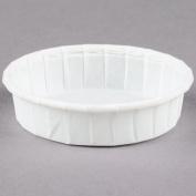 Dart Solo SCC100S 30ml Squat White Paper Souffle / Portion Cup - 250/Pack