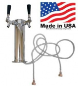 2 Faucet Stainless Steel Economy Beer Tower sold by Kegconnection
